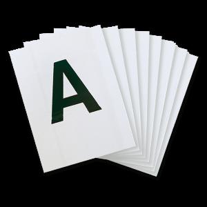 Lettere per rettangolo 20 x 40