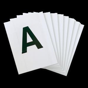 Lettere per rettangolo 20cm x 60cm